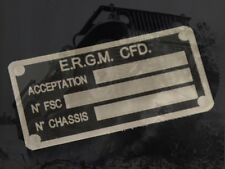 plate plaque plaquette JEEP ERGM 1 M201 HOTCHKISS WILLYS