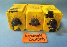 POTTER & BRUMFIELD TIME DELAY RELAY, CDB-38-70001, 0.1 - 1 SECOND, LOT OF 3