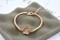 Goldkette 18 Karat Armband Armreif Geschenk vergoldet Armkette Damen Bracelet
