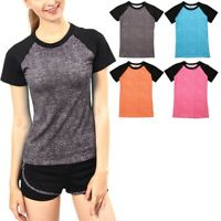 Women Short Sleeve Sport T-Shirt Tee Gym Running Fitness Workout Tops Blouse Hot