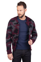 MACCHIA J Bomber Style Jacket Size S Wool Blend Camouflage Knitted RRP €269