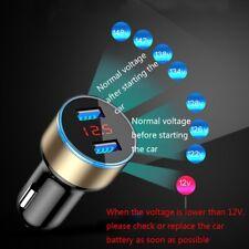 Usb Car Cigarette Phone Charger Lighter Digital Led Voltmeter Accessories 3.1A (Fits: Charger)