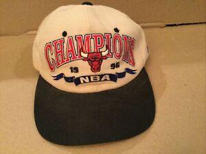 Chicago Bulls 1996 NBA Champions Hat Cap Jordan Last Dance Used