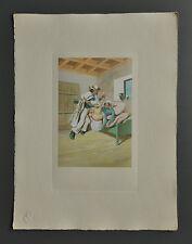Peter Fendi 1796-1842 Lithographie 30x40 Akt Erotik Biedermeier Nude Nus Chamber