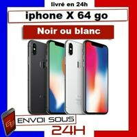 APPLE IPHONE X 64GO NOIR BLANC IPhone 10 64 Giga reconditionné + grade