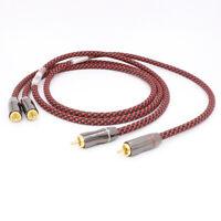1pr 1m A56 Pure copper RCA To RCA Audio Cable 2RCA Interconnect cable OFC cable