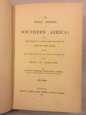 The Wild Sports of Southern Africa by Captain William Cornwallis 1852 26 Plates