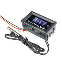 LCD Digital Voltage Watt Current Power Meter 20A 120V 2.4KW Ammeter Voltmeter