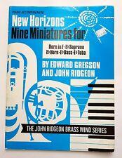 Edward Gregson/John Ridgeon: Nine Miniatures - Horn in F (Music Book)