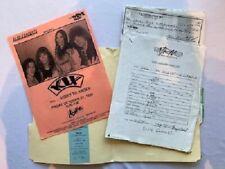 Kix Concert Contract 1995 Pittsburgh