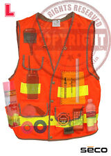 SECO 8069-50 L SURVEYORS SAFEY VEST, CLASS 2,SURVEYING,TOPCON,SOKKIA,TRIMBLE