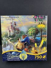 Disney Thomas Kinkade Ceaco 750 Puzzle Beauty and the Beast Falling In Love 2013