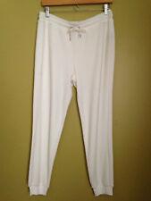 NWT LAUREN Ralph Lauren Cozy Pearl White Velour Soft Track Lounge Pants S $110