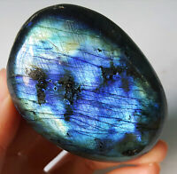Top 97G Natural Blue Rainbow Labradorite Crystal Healing Madagascar YT108