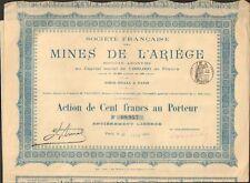Mines de l'ARIEGE (09) (K)