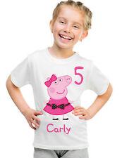 Personalized Custom Childrens Peppa Pig Birthday T-Shirt