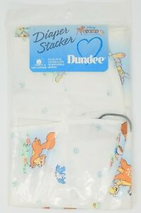 Disney Babies Bambi Thumper Vintage Dundee Cotton Diaper Stacker Made in U.S.A.
