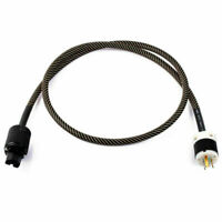 Gold Plated Audiophile Hi-End TV Audio Power Cables 3-pin US Plug Hifi Connector