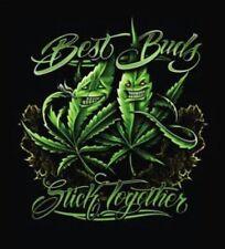 New Black Fleece Queen Blanket Best Buds Stick Together Pot Leaf Marijuana
