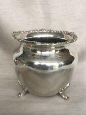 More details for antique silver plate 3 footed jardinière plant pot holder gdr