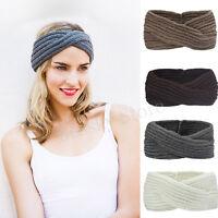 Women's Knit Headband Crochet Winter Hairband Hair Band Headwrap Headpiece New P