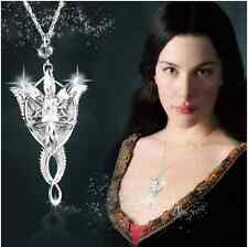 Silver Color Lord of the Rings Movie Arwen Evenstar Necklace Pendant Lady/Women