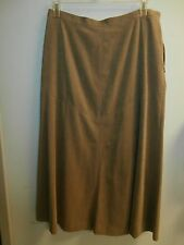 NWT JM COLLECTION TAN FULL FLARED Skirt Womens SIZE 14 PETITE