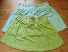 Juniors Cotton Blend Solid Mini Skirts for Women