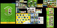 BRAZIL 2016 ALL STAMPS ISSUED, MADE BY POST OFFICE, ALL MNH