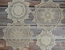 Set 4 Crochet Doilies Lot Country Wedding Ecru Table Runners Dreamcatchers