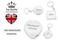 Personalised Folding Mirror KeyRing Travel Portable Compact Pocket Handbag UK