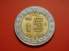 Mexico 5 Pesos, 2006, Value within circle
