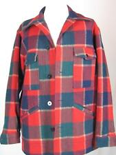 Vintage Pendleton Red and Green and Blue unisex Lumberman unlined Jacket size L