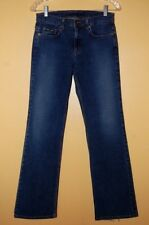 DKNY Womens Boot Cut Jeans, 6 Long, Dark Wash, 28x31