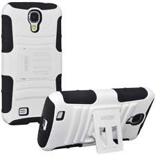 AMZER BLACK/ WHITE RUGGED TOUGH CASE WITH KICKSTAND FOR GALAXY S4 S 4 GT-I9500