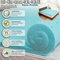 """2'' 3"""" Inch Soft Gel Memory Foam Mattress Breathable Twin/Twin XL//Queen/King"""