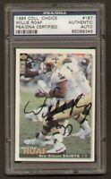 Willie Roaf signed autograph 1995 UD Choice PSA Slabbed