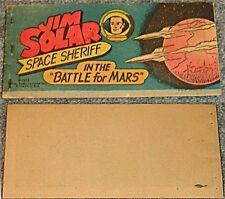 WISCO GIVEAWAY PROMO RARE JIM SOLAR SPACE SHERIFF BATTLE FOR MARS 1953 VITAL VG