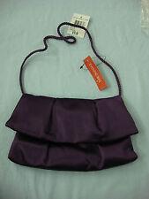NWT Women's Style & Co. Purse Handbag Evening Bag Satin Patti Purple #299B