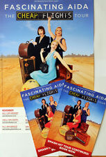 FASCINATING AIDA CHEAP FLIGHTS TOUR POSTER & 2 FLYERS