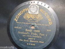 78 Rpm Banda de Diamantes Negros Escocia's Pride, partes 1 y 2