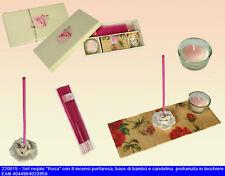 Set regalo composto da base in bambu incensi e candela