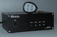 UM 410 F,  Vierfach-Audio-Umschalter  4 Eingänge - 1 Ausgang, fernbedienbar