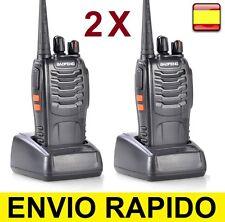 2 x Walkie Talkie UHF 400-470Mhz 5W 16CH EMISORA Radio Transceptor vigilancia