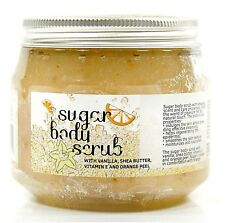 ORGANIC EXCLUSIVE SUGAR BODY SCRUB WITH VANILLA SHEA BUTTER AND ORANGE PEEL 300g