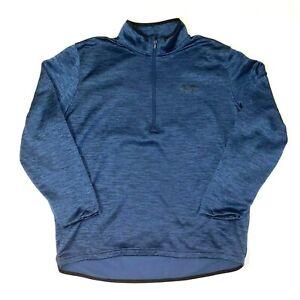 Under Armour Mens XL 1/4 Zip Cold Gear Pullover Sweatshirt Navy Mock Neck Good