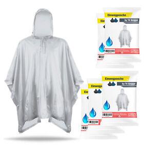 10x Regenjacke transparent Regenponcho einweg Regencape Poncho Regenmantel