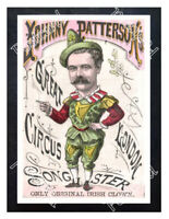 Historic Johnny Patterson Circus, England 1890 Advertising Postcard