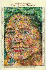MODERN GEMS - Sierra Leone - Queen Mother's 100th Birthday - Sheet of 8 - MNH