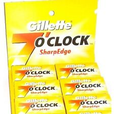 100 X Gillette 7 o'clock Stainless Steel Double Edge Safety Razor Shaving Blades
